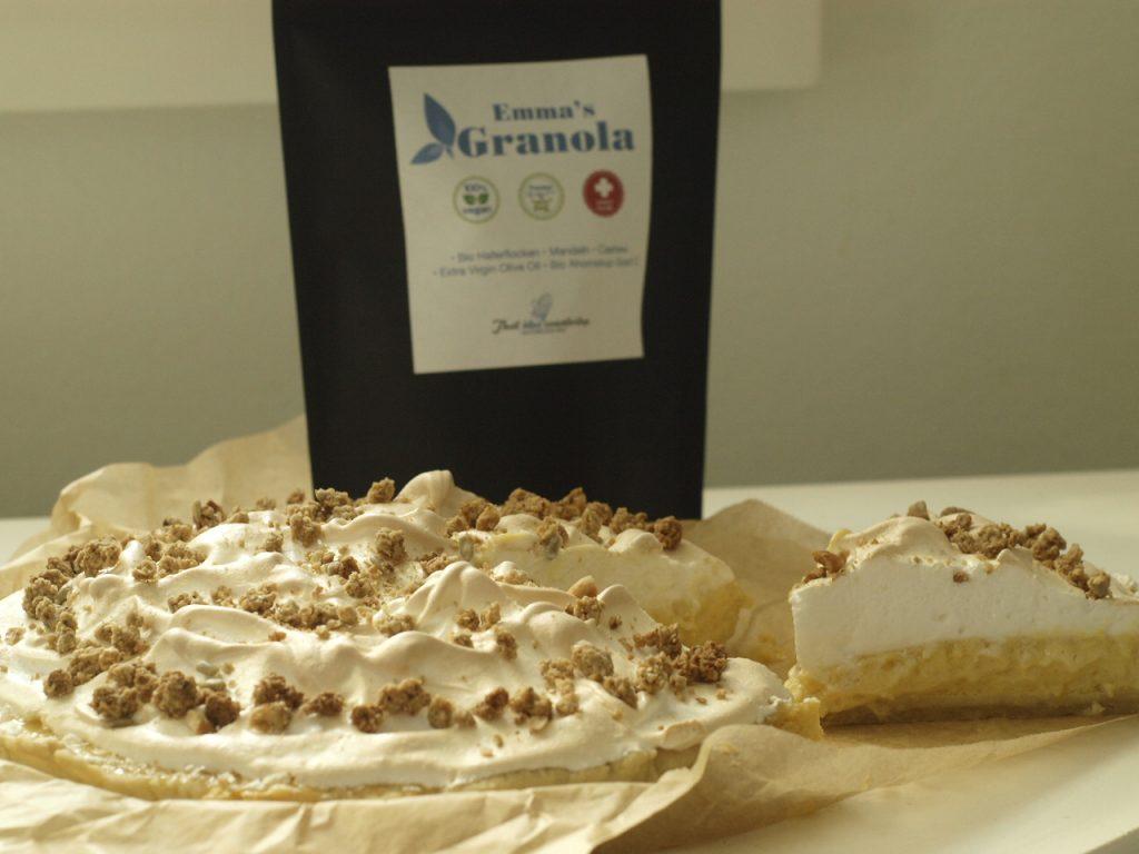 Lemon Meringue Pie with Emma's Granola